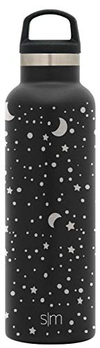 Simple Modern 20oz Ascent Water Bottle - Hydro Vacuum Insulated Tumbler Flask w/Handle Lid - Double Wall Stainless Steel Reusable - Leakproof Engraved: Lunar ()