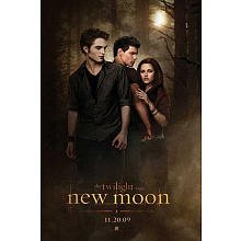 The Twilight Saga: New Moon 24-by-36 Movie Poster with Edward, Jacob, and Bella