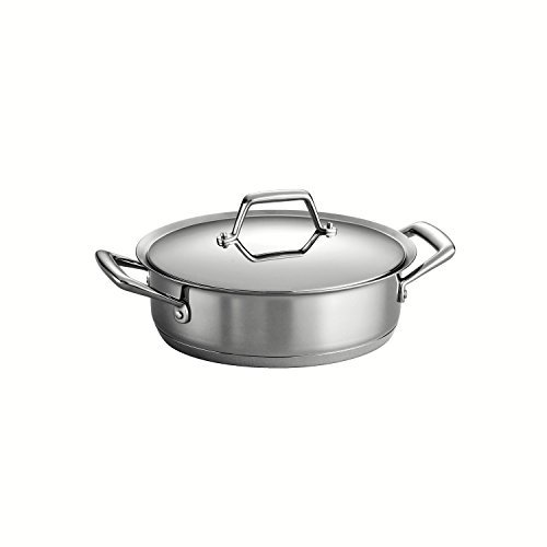 (Tramontina Prima 3 Quart 18/10 Stainless Steel Tri-Ply Base Covered Casserole by Tramontina)