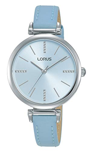 Womens Analogue Quartz Watch with Leather-Calfskin Strap - LORUS RG239QX9