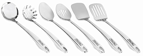 (Viking Stainless Steel Kitchen Utensil Set with Stay Cool Handles, 6)