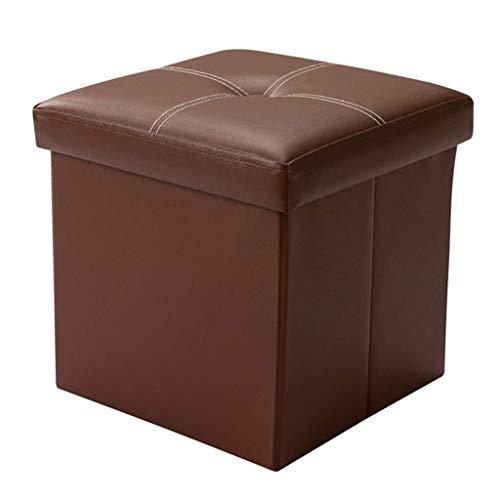 Amazon Com Folding Storage Box Leather Footstool Foldaway
