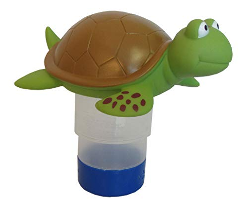 - Floating Chlorine Bromine Dispenser for Swimming Pools Shaped as a Turtle