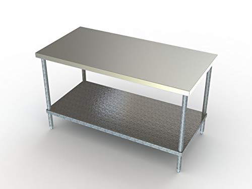 (Aero Stainless Steel Work Prep Table with Undershelf 24 x 24)