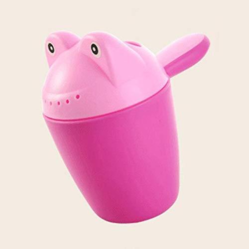 GonPi | Bath Toys| 1 Piece Baby Shampoo Rinse Cup Bath Toys Plastic Cartoon Frog Washing Hair Tool for Children Kids Boys Girls