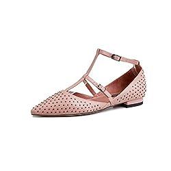T-strap Polka dots Pointed Toe Ballet Flats