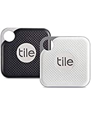 Tile Pro with Replaceable Battery - 2 Pack (1 x Black, 1 x White)