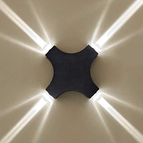 SISVIV 12W LED Applique Esterno Lampada da Parete Interno Moderno Lampada da Muro Design Decorazione Impermeabile IP65 per Cortile Corridoio Balcone Scale KTV Nero