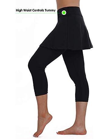 bf75c7193 ANIVIVO Skirted Legging for Women,Women Skirted Capri Leggings Tennis  Pants& Tennis Capri Skirted Leggings