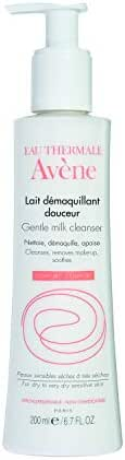 Eau Thermale Avene Gentle Milk Cleanser, Moisturizing No Rinse Cleansing Lotion for Sensitive Skin, 6.7 oz.