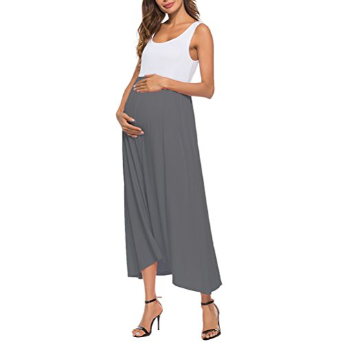 Miss Sleeveless Long Casual Women's Ladies Zhhyltt O Women Gray Dress Vest Summer Neck Dress Sales Loose Dress Skirts Spring Hot Dresses Beach Maternity Wrap Sundress 7qT6qRw