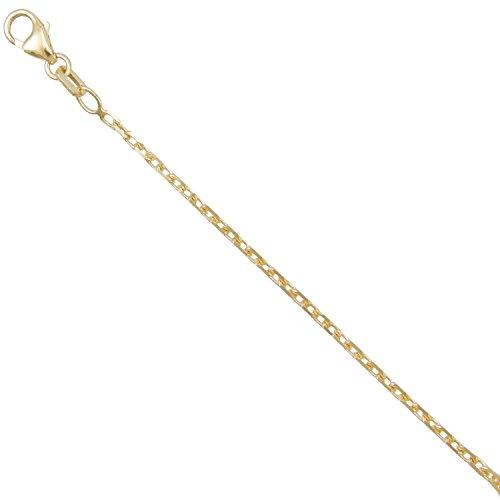 Collier Chaine Forçat Diamantée Massive - Or Jaune Véritable - Femme ou Enfant