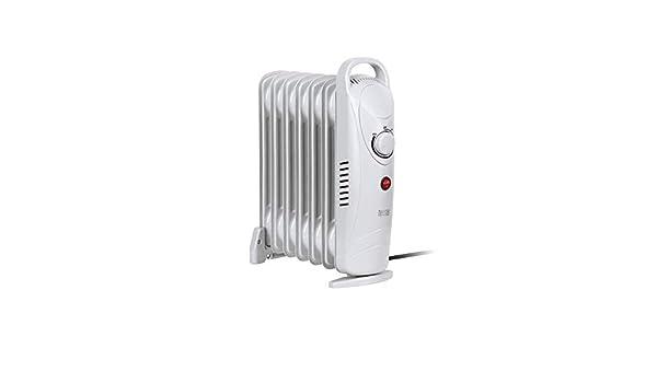 Tessa tsa8029 Teesa Radiador mobile 800 W de calefacción eléctrica, 7 elementos, termostato, protección contra sobrecalentamiento, con pies, color blanco: ...
