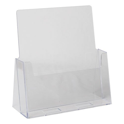 Dazzling Displays Clear Acrylic 8.5 x 11 Brochure Holder Countertop (Leaflet Holder)