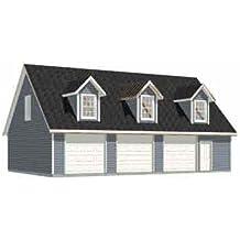 Garage Plans: Three Car Garage With Loft Apartment (rafter version) - Plan 2280-3