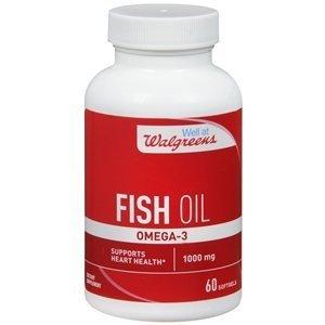 - Walgreens Omega -3 Fish Oil 1000mg, Softgels, 60 ea by Walgreens