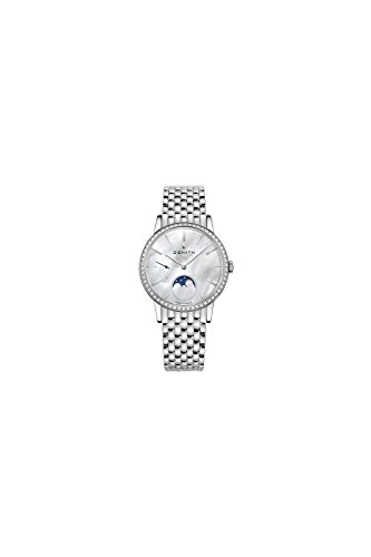Zenith Elite Automatic White Mother of Pearl Dial Ladies Watch 16.2320.692/80.M2320