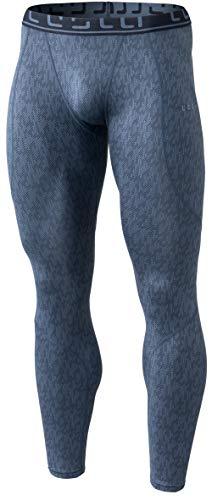 Tesla TM-YUP43-XDG_X-Large Mens Emboss Pants Thermal Wintergear Compression Baselayer Sports Leggings YUP43