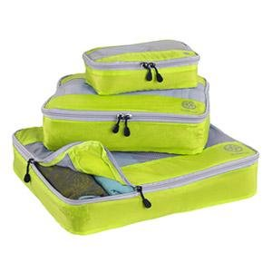 Uncharted Ultra-Lite Packing Cube 3 Piece Set, Neon Yellow, One Size from Uncharted