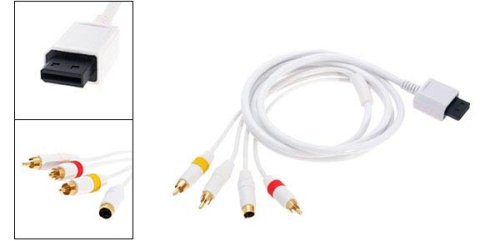 S-Video Audio AV Video Cable For Nintendo Wii Console