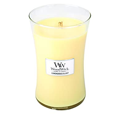 LEMONGRASS LILY - WoodWick 22oz Large Jar Candle Burns 180 Hours