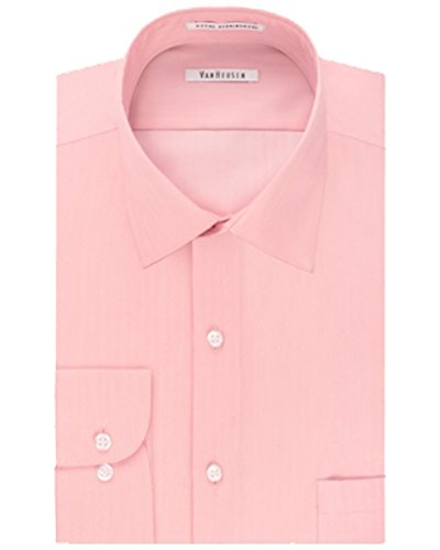 Van Heusen Big And Tall Pink Classic Fit Mens Dress Shirt 22 34-35 - Van Heusen Pink Dress Shirts