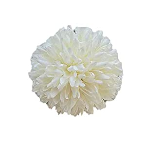 zzJiaCzs Artificial Dandelion Flower,1Pc Artificial Dandelion Fake Flower DIY Wedding Bouquet Party Home Decoration - Milky White 75
