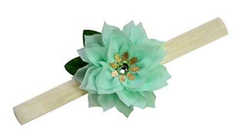 [The Frog Prince Inspired Baby Elastic Headband (0-12 Months)] (Tiana Costume For Infant)