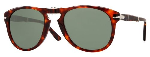 Persol PO0714 24/31 Havana Sunglasses with Grey Lenses 52mm 714 24/31 - 714 Sunglasses Folding Persol