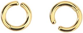 Gold Titanium Steel Round 2.5mm Thick Simple Ear Clip