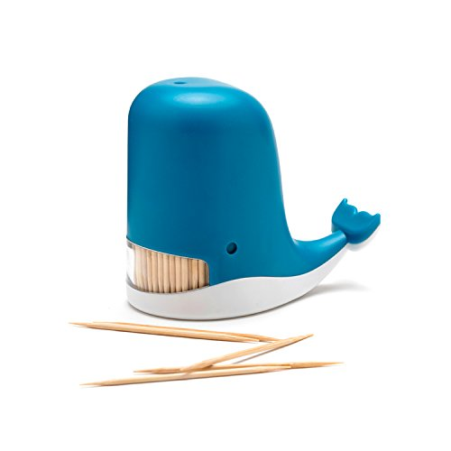 Plastic Toothpick Dispenser (PELEG DESIGN Jonah Toothpick Dispenser Whale Toothpick Dispenser Funny Portable Plastic Toothpick Holder)