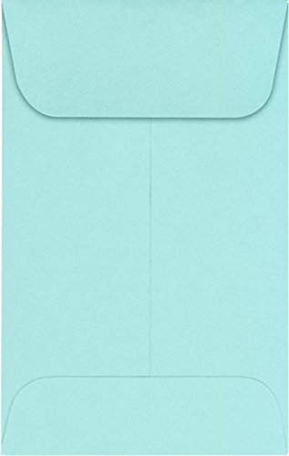 #1 Coin Envelopes (2 1/4 x 3 1/2) – Seafoam (1000 Qty.) | Perfect for the HOLIDAYS, Weddings, Parties & Place Cards | Fits Small Parts, Stamps, Jewelry, Seeds | LUX-1CO-113-1M