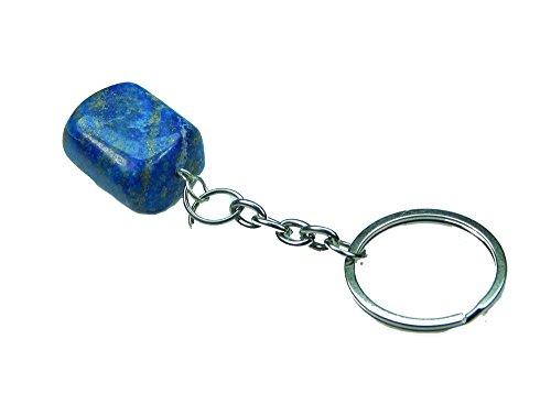 Myhealingworld Natural Tumble Shapes Lapis Lazuli Healing Gemstone (Gemstone Lapis Keychain)