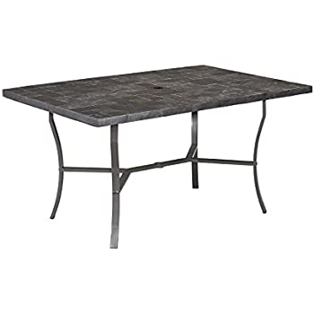 Home Styles 6000 31 Stone Veneer Slate Tile Top Outdoor Dining Table