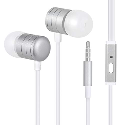 Wired Headphones, Amoner in-Ear Earbuds Built-in Microphone and Controller Noise Isolating Sports Earphones with Stereo Sound Compatible with Phone 6/6s Plus/5s/SE, Android Phones, Tablets and More