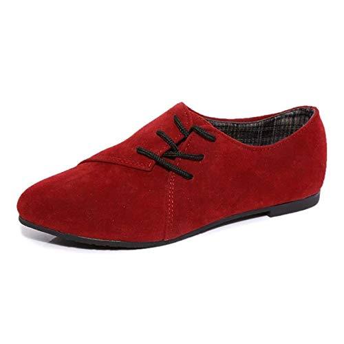 Taille Chaussures Eu coloré Rouge 36 Zhrui Marron q7T4wwF