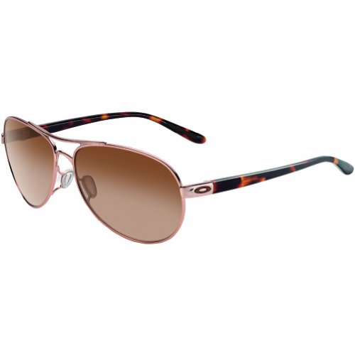 Oakley Women's Feedback OO4079-01 Aviator Sunglasses,Rose Gold,59 - Womens Sunglasses Oakley Aviator