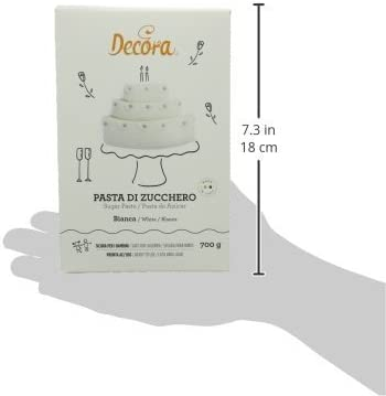 Bianco 700 g Decora Pasta di Zucchero