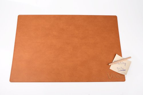 Leather Desk Pad 60 X 40 Cm Brown