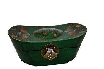 Vintage Chinese Ingot Shape Jewelry Keepsake box