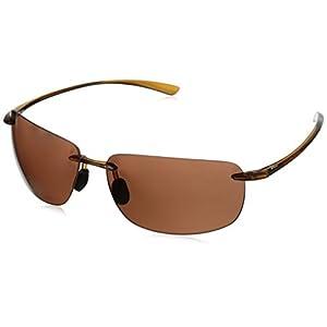 Hobie Rips Polarized Rimless Sunglasses, Shiny Crystal Brown, 62 mm