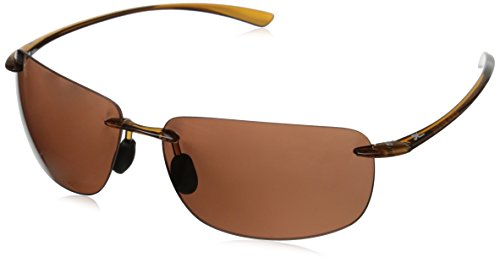 Hobie Rips Polarized Rimless Sunglasses, Shiny Crystal Brown, 62 - Hobie Sunglasses Amazon