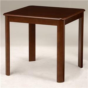 ダイニングテーブル 【正方形】 木製 天板:オーク突板 幅75cm×奥行75cm 木目調 VDT-7683DBR ブラウン B01CXGZG5W