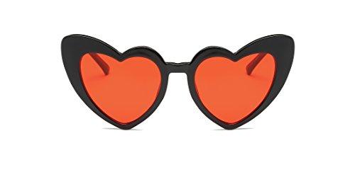 Cramilo Women Heart Shaped Sunglasses Fashion Cute Retro Eyewear - Man Face Shaped For Heart Sunglasses