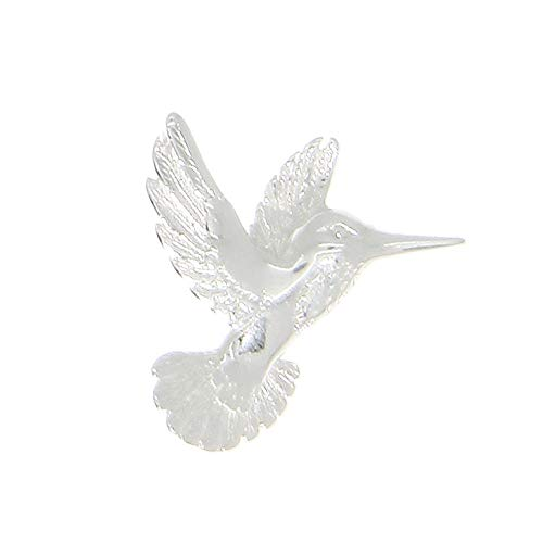 Charm - Sterling Silver - Jewelry - Pendant - Polished Flying - Polished Hummingbird Pendant
