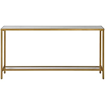 Uttermost 24685 Hayley Console Table In Antiqued Gold Leaf