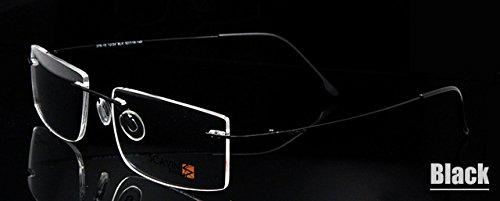 2de570f623 BuyWorld ESNBIE Computer Rimless Titanium Glasses Frame Men Memory Eyeglass  Frames 7 Colors Meet 1.56 1.61 Prescription Eyewear  Amazon.in  Home    Kitchen