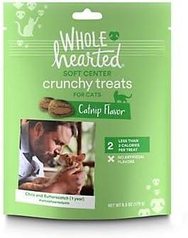 WholeHearted Soft Center Crunchy Catnip Flavor Cat Treat