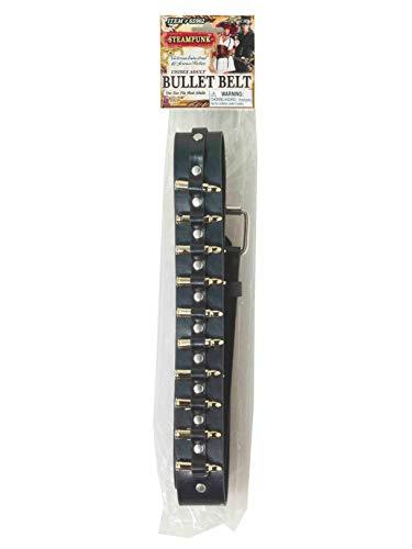 Forum Novelties 65902 Steampunk Brass Bullet Belt, One Size, Multicolor -