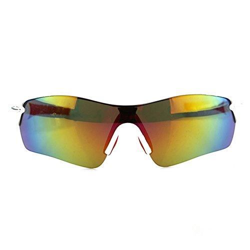 LBY Hombre Libre Blanco Gafas Gafas Aire Negro Deportivas Sol para Polarizadas Gafas Al Color para de Bicicletas qOrqT
